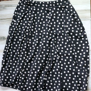 LuLaRoe Black and White Polka Dot Madison Skirt